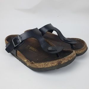 Birkenstock | Black leather Thong sandals, Size 37